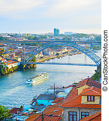 river., ship., porto, croisière, douro