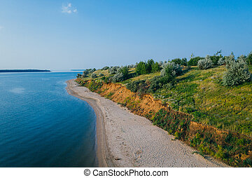 River shore cliff