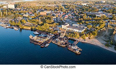 River shore wharf