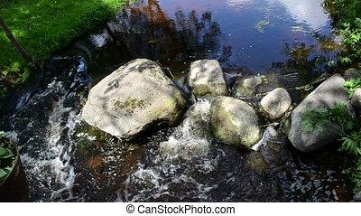 river stone underwater