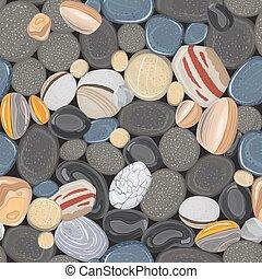 River stones seamless pattern