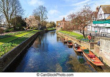 River Stour at Canterbury - Riverside scenery on the River...