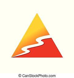 River Stream Triangle Shape Symbol Logo Design