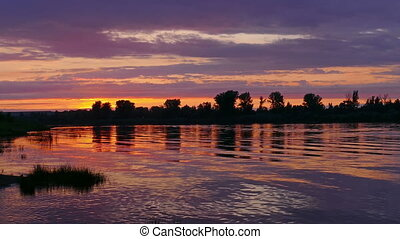 river sunset landscape