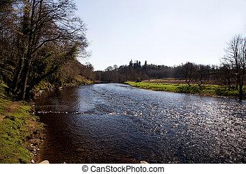 River Teith at Doune Castle Scotland