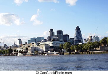 River Thames bank in London, England