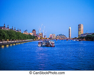 River Thames in London HDR