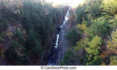 River Through Mountains Fall colors