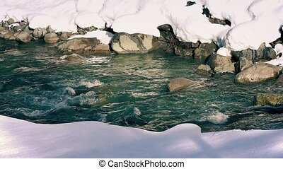 River Through The Snow