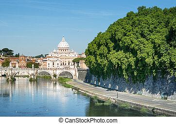River Tiber in Rome - Italy