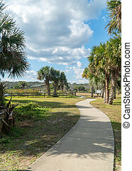 River to the Sea park on a beutiful day in Palm County Florida