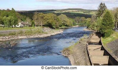 River Tummel Pitlochry Scotland UK - Pitlochry Scotland UK...