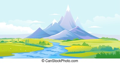 River valley in mountains