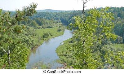 River Valley of Serga. SVERDLOVSK REGION, Russia - River...