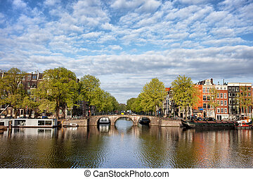River View of Amsterdam in the Netherlands