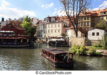 River Vltava, Prague, Czech republic.