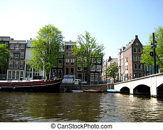River walk on a boat in Amsterdam