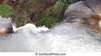 The opposite viewpoint to the beginning of the waterfall. - ...