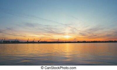 River Water Sunset Waves Horizon Beautiful Scene Journey Long Travel Exotic Location Romantic Landscape Sky Summer Evening View