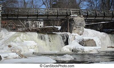 river waterfall bridge