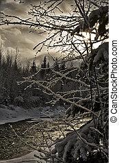 River Winter scene