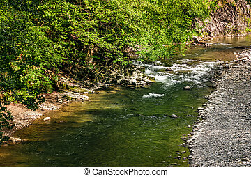 river with rocky shore. view from above - river with rocky...