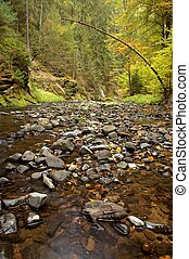 river with stones
