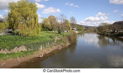 River Wye Monmouth Wales UK pan