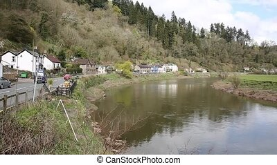 River Wye near Tintern Abbey Wales - River Wye near Tintern...