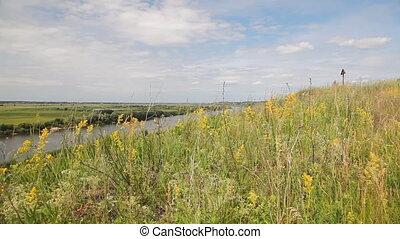 """Riverbank landscape - """"Oka"""" river, Ryazan area, Russia...."""
