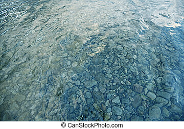 Wideangle shot of a shallow riverbed