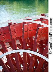 riverboat., paddlewheel