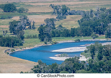 rivers in Yellowstone National Park in Wyoming