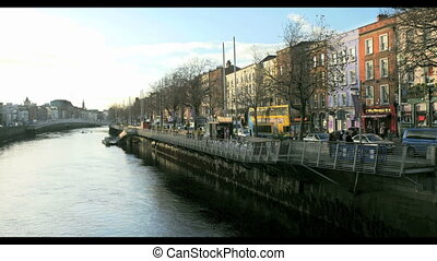 Riverside buildings in Dublin