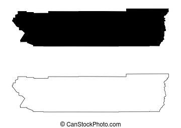 Riverside County, California map vector - Riverside County,...