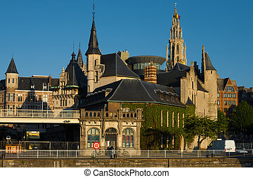 Riverside Het Steen Church of Our Lady Antwerp - A unique...