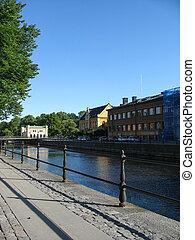 Riverside in Uppsala city (Sweden)