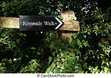 riverside walk sign