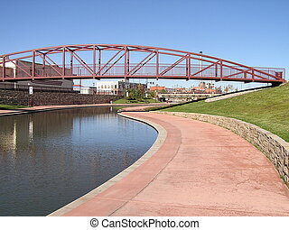 Riverwalk - A section of the Historic Arkansas Riverwalk...