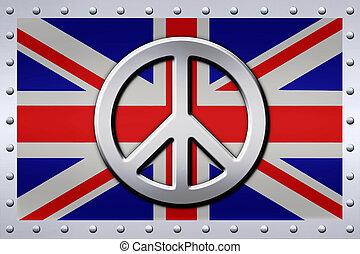 Riveted Aluminum Union Jack Peace