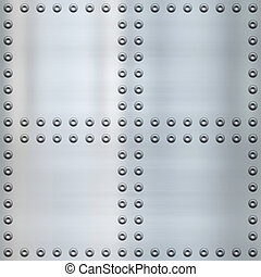 riveted metal background - great image of steel or alloy...