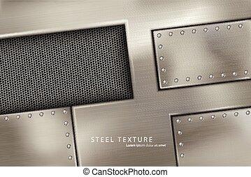 riveted steel rivets and screws metal