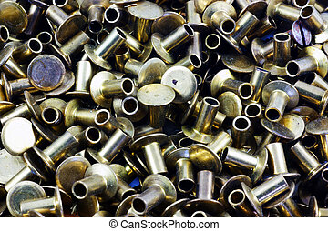 Rivets - A very close view of several rivets.