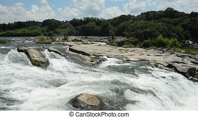 rivière, écoulement, soubassement