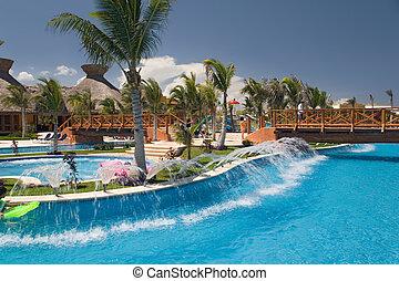 rivière, aimer, piscine, mexique