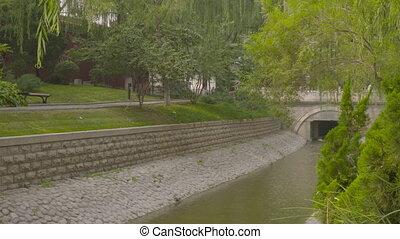 rivière, canal, changpu, pierre, beijing, parc, porcelaine