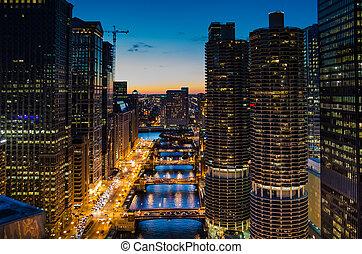 rivière, chicago, vue