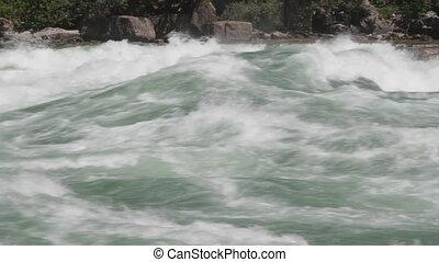 rivière, close., niagara, rapids.