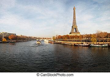 rivière, france., seine, paris