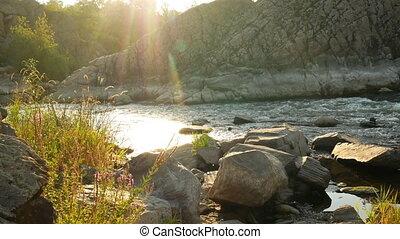 rivière, montagne, ruisseau, eau